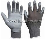 Gants en nylon tricotés avec gant en mousse Nitrile (N1566)