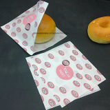 Sacchetto inferiore tagliente dell'alimento con il sacco di carta del pane puro della finestra