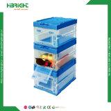 Conteneur de stockage de plastique Zone de déplacement en plastique AVEC PORTE LATERALE