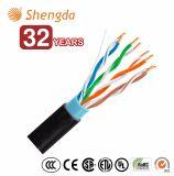 4 pares de UTP Cat5e del cable Cat5e del alambre de la red al aire libre
