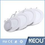 Luz branca de madeira quadrada redonda do diodo emissor de luz do painel do frame do IEC 18W de Saso