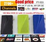 Mini DVB-S2 com IPTV 3000+ canaliza o receptor satélite de Sunplus 1506f com a caixa superior ajustada do De France Turquia De Africe Reino Unido dos esportes árabes de Cccam