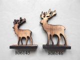 Decoración de madera de la percha de la Navidad de la quemadura del árbol de la estrella del reno