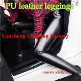 Sexy PU покрытием кожаные брюки Manufacutre плотную Leggings оптовая торговля