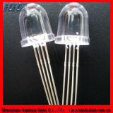 10mm Bullet cuatro patas de los diodos LED RGB (HH-10A0CAW878)