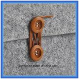 Материал конструкции детенышей новый втулки компьтер-книжки войлока шерстей 70% содержимой, подгонянного портативного мешка портфеля компьтер-книжки с заключение кнопки