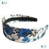 Blue Flowers Wide Women Bandinhas de PU