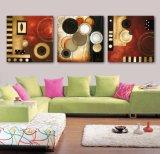 Die 3 Stück-druckte moderne Wand-Kunst Farbanstrich-die abstrakter Farbanstrich-Raum-Dekor gestaltete Kunst-Abbildung, die auf Segeltuch-Ausgangsdekoration Mc-250 angestrichen wurde