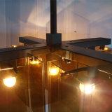 Hängende Lampe des Weinlese-Hotel-bernsteinfarbige Glasfall-LED