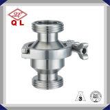 Aço inoxidável Ss304 316 de Wenzhou válvula de verificação sanitária soldada 2 polegadas do produto comestível