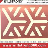El panel compuesto de aluminio PVDF que cubre el panel decorativo