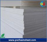 tarjeta blanca de alta densidad de la espuma del PVC del color de 10m m