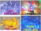180 luz de hadas de la secuencia del LED 18m para el jardín del banquete de boda
