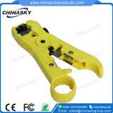 Câble coaxial RG59/6 Coupe-fil d'arasement Outil de dénudage (T5005)