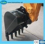 La maquinaria de construcción de la excavadora de ruedas hidráulicas de 7 Ton.