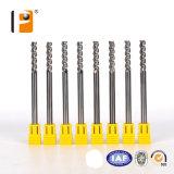 3 flûtes en carbure monobloc Usine de traitement de fin pour l'aluminium