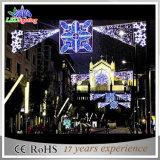 La Navidad LED al aire libre decorativo del surtidor de la fábrica a través de luces de calle
