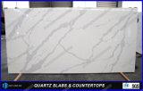 Prix extérieur solide en pierre blanc de partie supérieure du comptoir de quartz