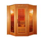 Fácil ensamblaje Sauna de Vapor de las habitaciones para 4 personas, sauna finlandesa