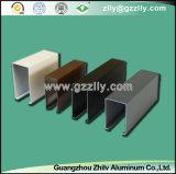 Panneau de plafond en aluminium des graines U d'usine en métal en bois de forme avec OIN 9001