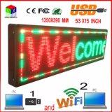 Afficheur LED extérieur de P10 RVB/radio d'ordinateur programmable/USB/signes sans fil mobiles