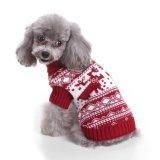 2017新しい方法ペットアクセサリの赤いクリスマス犬のセーター