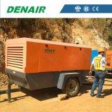 Compresor de aire portable diesel del tornillo de 275 Cfm con dos ruedas