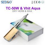 Aqua popolare di Seego Vhit & sigaretta elettronica di wattaggio registrabile di Tc-50W