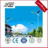 Luz solar calle polo con iluminación LED 130-150lm/W