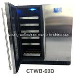 """refrigerador incorporado de la bebida del vino de la pantalla táctil de 30 """" LG y refrigerador de vino"""