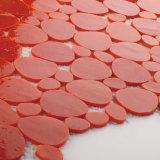 Mattonelle di mosaico di vetro di pavimentazione colorate rosse per la decorazione interna