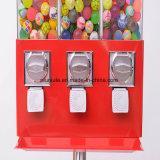 Distributore automatico della sfera di Gumball della caramella di triplo del basamento del metallo