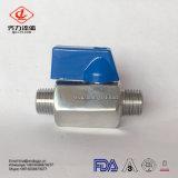 Válvula de esfera masculina sanitária do aço inoxidável da alta qualidade mini