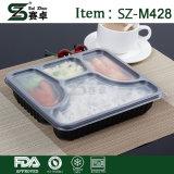 Contenitore di alimento a gettare dello scompartimento della plastica 4 con il coperchio di Airthight