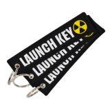 Förderndes Stickerei-Markenname-Großhandelsfirmenzeichen-kundenspezifische Gewebe-Änderung am Objektprogramm Keychains für Luft-Fläche