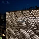 Filet à mailles en aluminium de panneaux de mur extérieur
