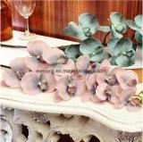 La seta artificiale blu fiorisce i fiori di seta all'ingrosso delle orchidee dalla Cina per la decorazione di cerimonia nuziale