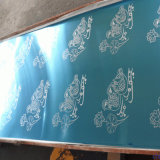 Plaques gravées en relief de Cloured d'acier inoxydable