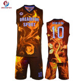 スポーツ・ウェアのカスタム昇華バスケットボールのユニフォームの最新のバスケットボールのジャージーデザイン