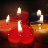 Decorazione di vetro Votive della casa del vaso dello stagno della colonna della candela di Tealight del cuore