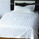Latsetデザイン100%Cottonサテンの縞王クイーンサイズの寝具のセット