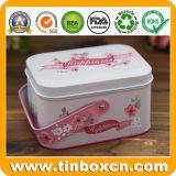 Bolos e doces Caixa de estanho com pega para presentes de casamento