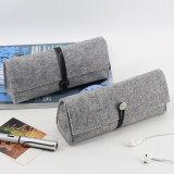 Commerce de gros échantillon gratuit feutre de laine sacoche pour ordinateur portable sacs feutre