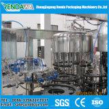 飲料水ガラスか機械か瓶詰工場を作るレモネードジュース