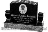 La lapide commemorativa poco costosa del Headstone di Mounment pietra tombale nera/grigia granito europeo/russo/americano di stile con progetta