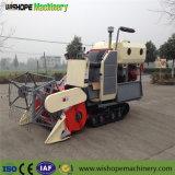 小さい手動穀物タンクが付いている小さいゴム製トラックコンバイン収穫機