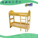 Infantiles de madera natural con dos camas individuales con las escaleras (HG-6507)
