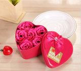 Les cadeaux de mariage faits sur commande de qualité Rose pourprée fleurit le savon fabriqué à la main (YB-HS-453)