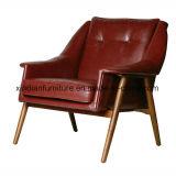 Singolo sofà di svago nordico di cuoio del tessuto