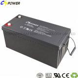 12V batería sin necesidad de mantenimiento del gel de voltio 200ah para el sistema solar/del viento